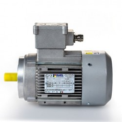 Motor eléctrico trifásico ATEX antiexplosivos, carcasa aluminio, 0.12kW/0.17CV, 3000 rpm, 56B14 (ØEje motor 9 mm, ØBrida 80 mm) 220/380V, IP66 IE1, Zona 21