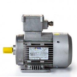 Motor eléctrico trifásico ATEX antiexplosivos, carcasa aluminio, 0.18kW/0.25CV, 3000 rpm, 63B3 (ØEje motor 11 mm) 220/380V, IP66 IE1, Zona 21