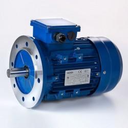 Motor eléctrico trifásico 0.75kW/1CV, 1000  rpm, 90B5 (ØEje motor 24 mm, ØBrida 200 mm) 220/380V, IE2, IP55, Carcasa aluminio