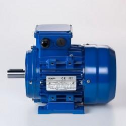 Motor eléctrico trifásico 0.09kw/0.12CV, 1500 rpm, 56B3 (ØEje motor 9 mm) 220/380V, IP55, IE1, Carcasa aluminio