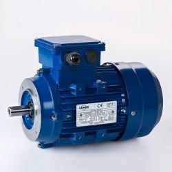 Motor eléctrico trifásico 0.09kw/0.12CV, 1500 rpm, 56B14 (ØEje motor 9 mm, ØBrida 80 mm) 220/380V, IP55, IE1, Carcasa aluminio
