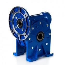Reductor sinfin corona RMI 028 S (Patas) Rel.1/ 56, PAM 120-9, eje salida Ø14, para motor tamaño 56 B5 (motor no incluido)