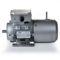Motor eléctrico trifásico con freno B3, 3000 rpm, 220/380V, tamaño 71, 0.55kW/0.75CV, IP54, IE1, tensión freno 220/380V (ca)