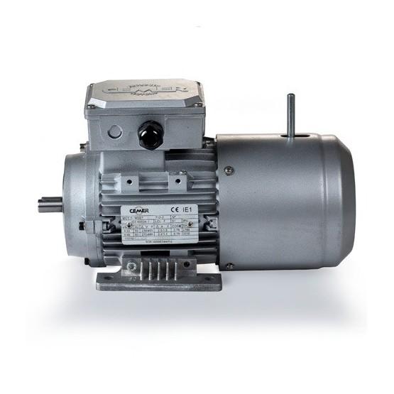 Motor eléctrico trifásico con freno 71B3 (ØEje motor 14 mm), 1500 rpm, 220/380V, 0.55kW/0.75CV, IP54, IE1, tensión freno 220/380V (ca)