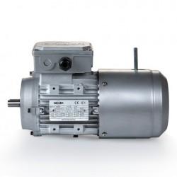 Motor eléctrico trifásico con freno B14, 1500 rpm, 220/380V, tamaño 80, 0.55kW/0.75CV, IP54, IE1, tensión freno 220/380V (ca)