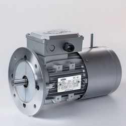 Motor eléctrico trifásico con freno B5, 3000 rpm, 220/380V, tamaño 80, 0.75kW/1CV, IP54, IE1, tensión freno 220/380V (ca)