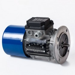 Motor eléctrico trifásico con freno 132B5 (ØEje motor 38 mm, ØBrida 300 mm), 1500 rpm, 380/660V, 9.2kW/12.5CV, IP54 IE1, tensión freno 103V (cc)