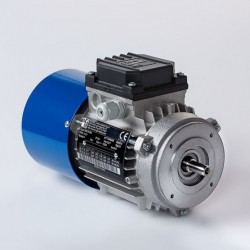 Motor eléctrico trifásico con freno 160B14 (ØEje motor 42 mm, ØBrida 250 mm), 1500 rpm, 380/660V, 11kW/15CV, IP54 IE1, tensión freno 103V (cc)