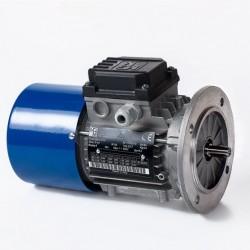 Motor eléctrico trifásico con freno 160B5 (ØEje motor 42 mm, ØBrida 350 mm), 1500 rpm, 380/660V, 15kW/20CV, IP54 IE1, tensión freno 103V (cc)