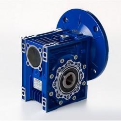 Reductor sinfin corona MSF 030 Rel.1/60, PAM 120-9, eje salida Ø14, para motor tamaño 56 B5 (motor no incl)