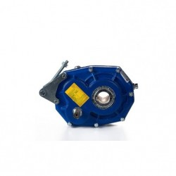 Reductor pendular RP 125 Rel.1/20, eje hueco Ø45, eje polea Ø28, con tensor y antirretorno