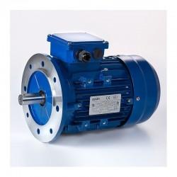 Motor eléctrico trifásico 0.37kw/0.5CV, 1500 rpm, 71B5 (ØEje motor 14 mm, ØBrida 160 mm) 220/380V, IP55, IE1, Carcasa aluminio