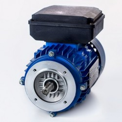 Motor eléctrico monofásico alto par de arranque 0.18kw/0.25CV, 220V, 1500 rpm, 63B14 (ØEje motor 11 mm, ØBrida 90 mm) 220V, IP55, IE1
