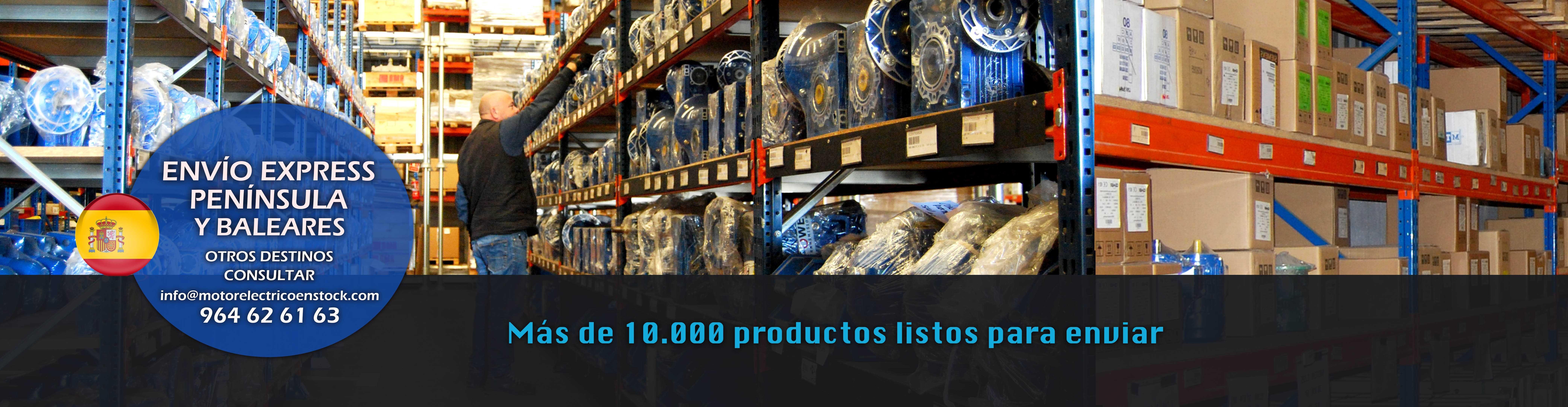 Más de 10.000 motores trifásicos, monofásicos, reductores y motovibradores disponibles para entrega inmediata